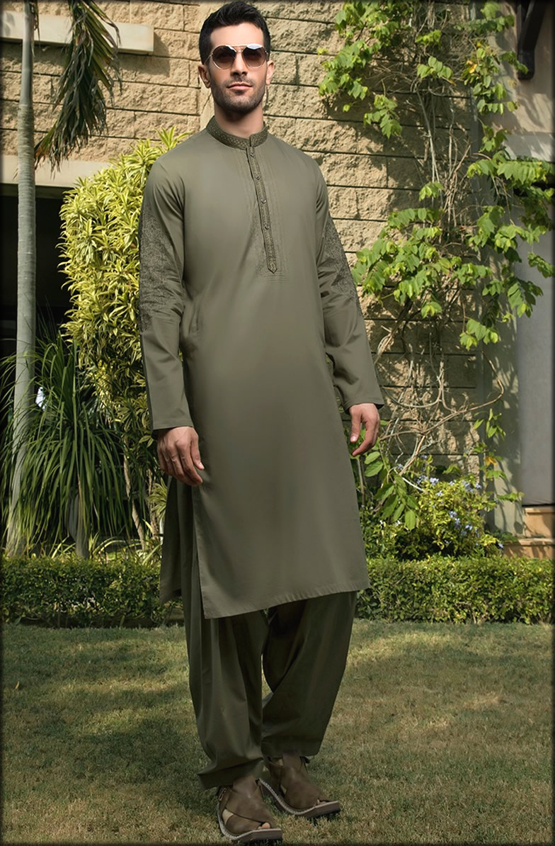 Embroidered Dress For Groom to be