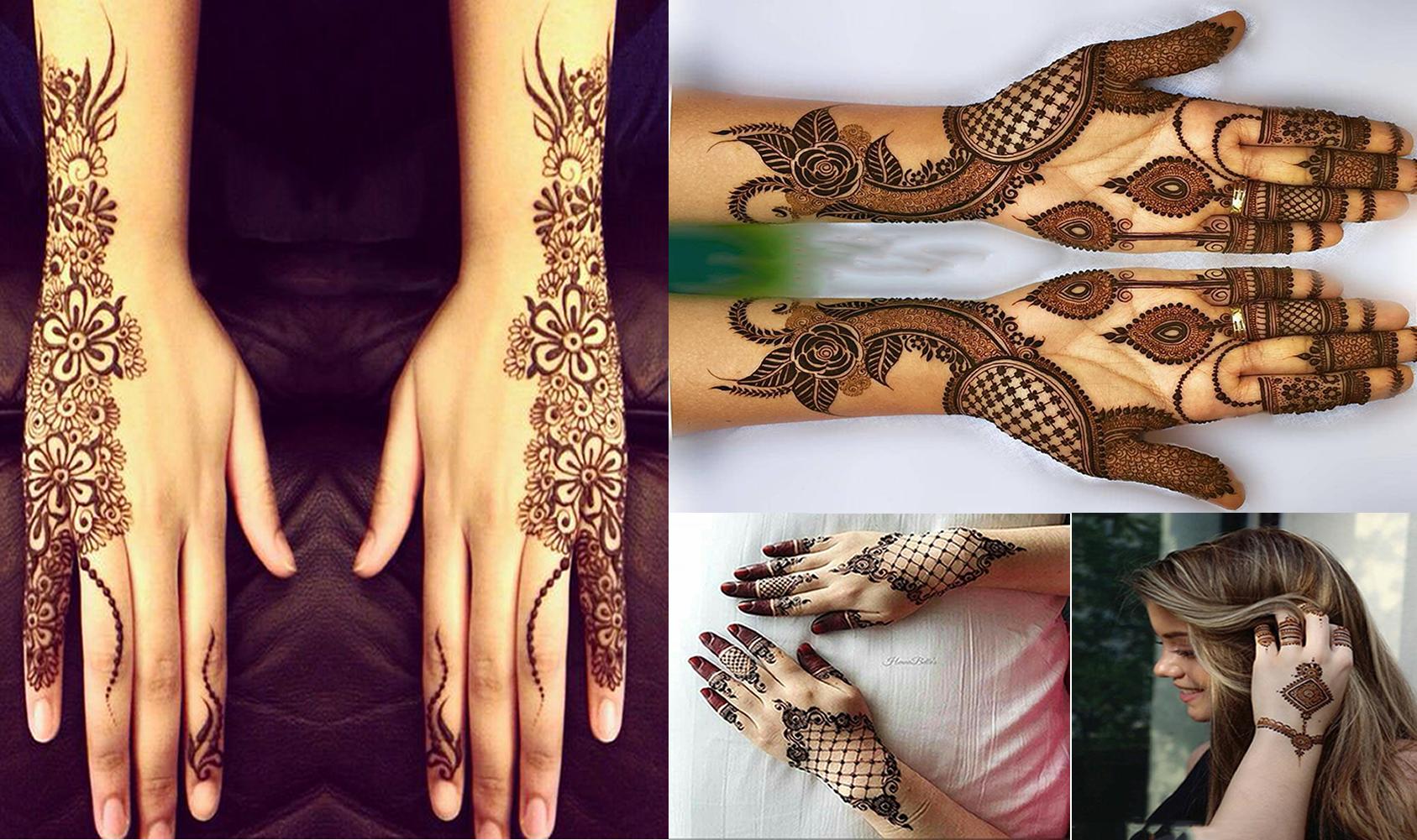 Fancy Mehndi pattern for hands