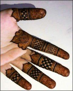 Fingers Menhdi pettern