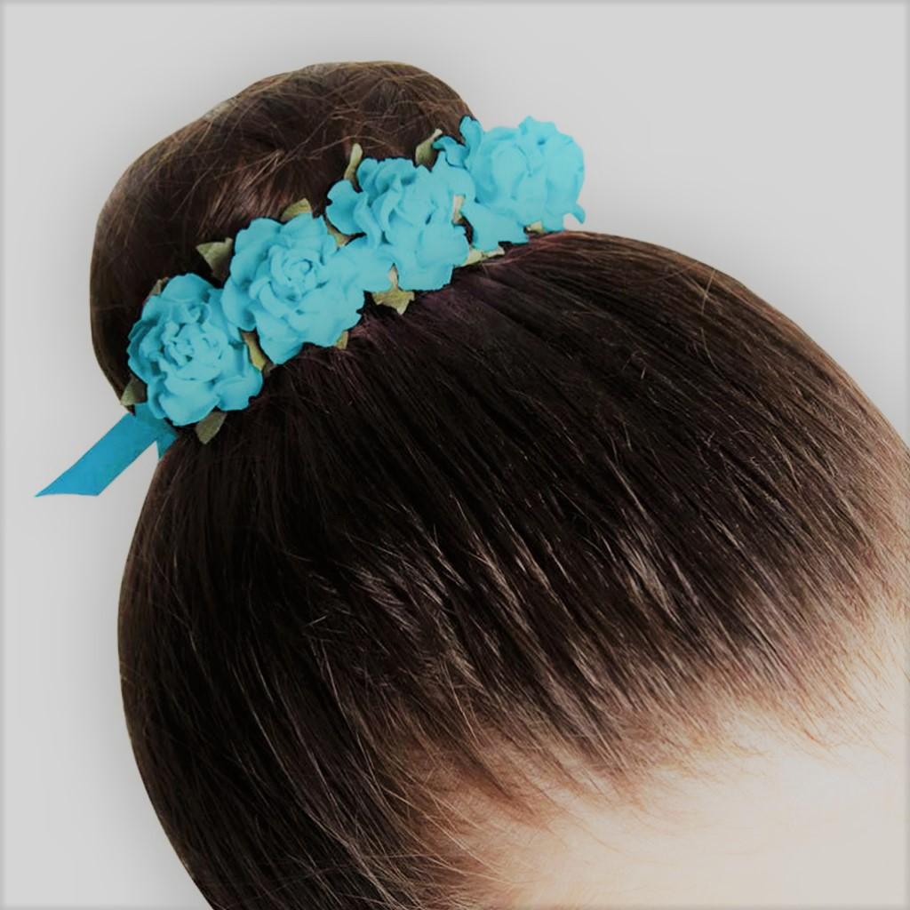 Flower Ribon Bow Bun