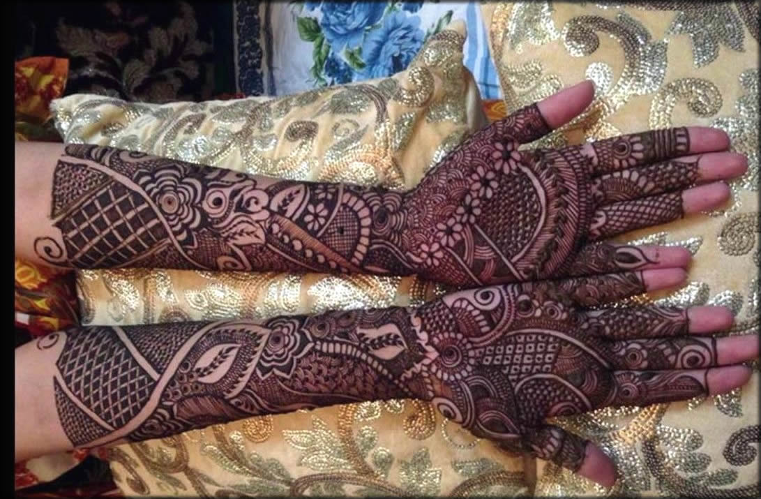 Full Filed Stunning Bridal Mehndi Designs
