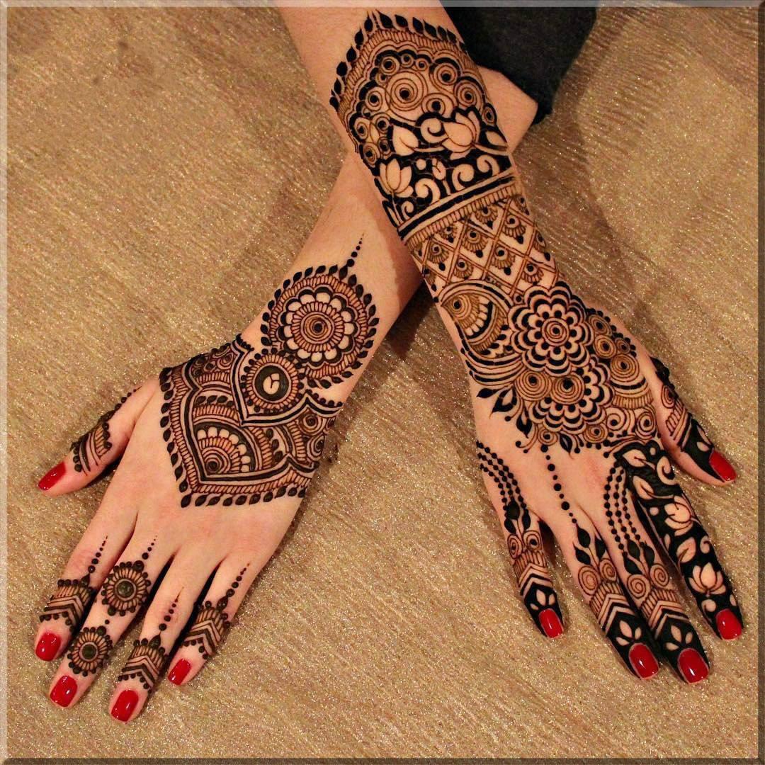 Latest Fancy Eid Mehndi Design