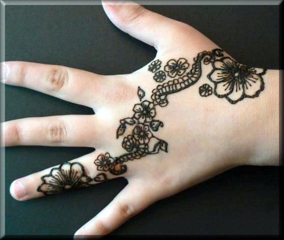 simple indian henna art for kids