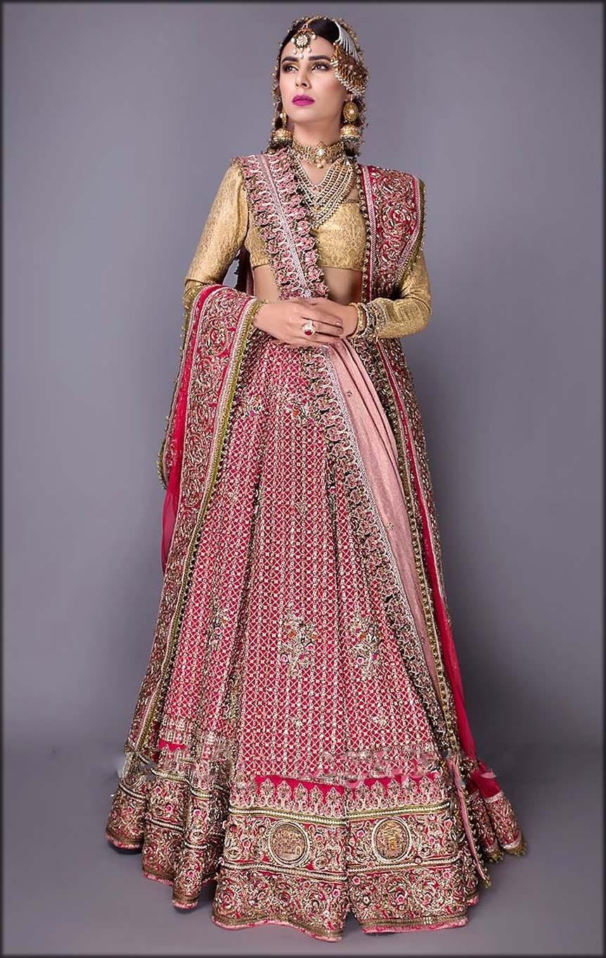 Lehenga Saree By Pakistani Designer Fahad Hussayn