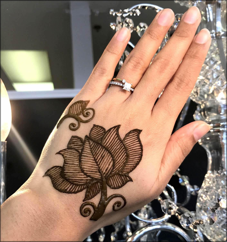 Lotus Mehndi Designs