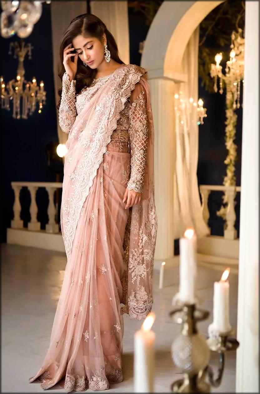 Maria B Latest Fancy Formal Wedding Saree
