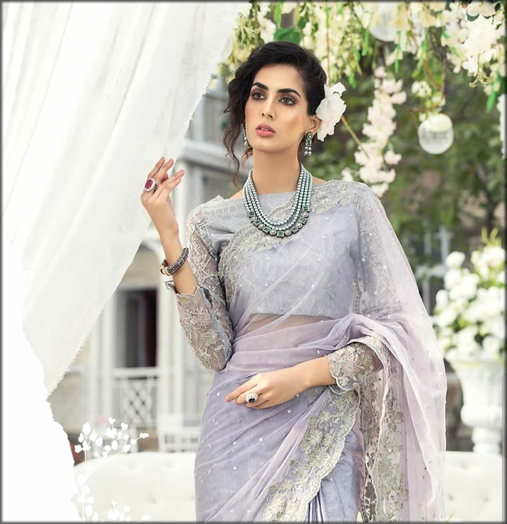 Maria B Silk Saree Collection