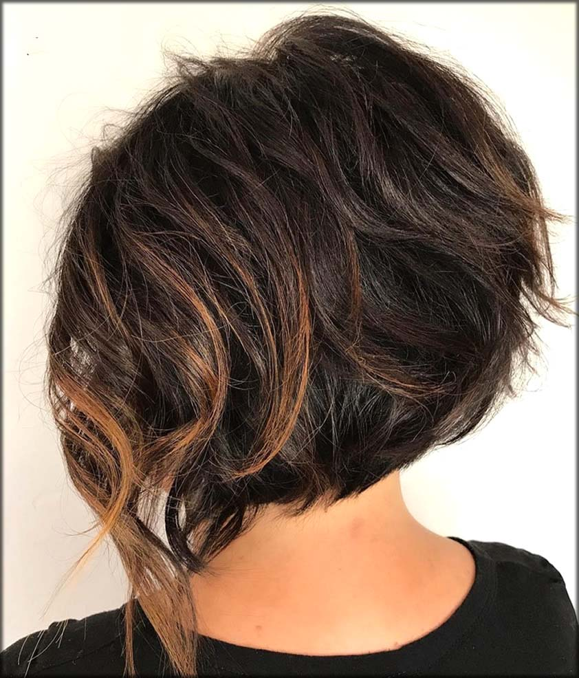 Messy And Shaggy Brunette Bob Short Haircuts And Hairstyles