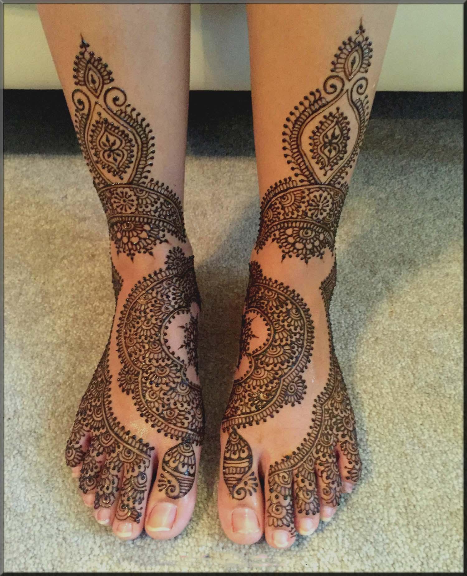 moroccan bridal mehndi designs for feet