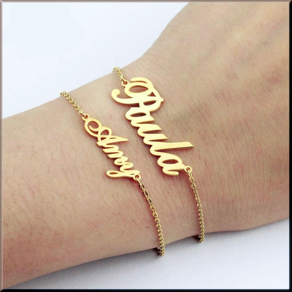 Name Bracelet Gold Chains Bracelet