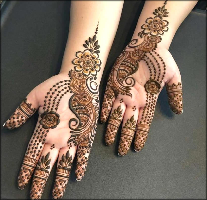 New Eid Mehndi Designs For Girls