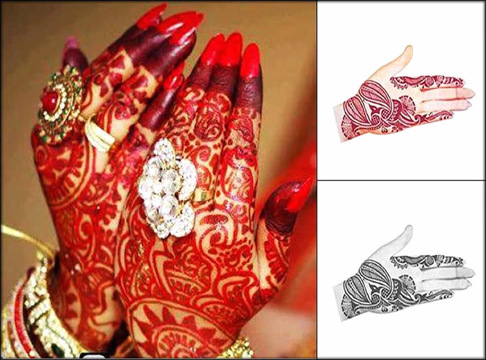 Paisley Bridal Alta Bengali Mehndi Design