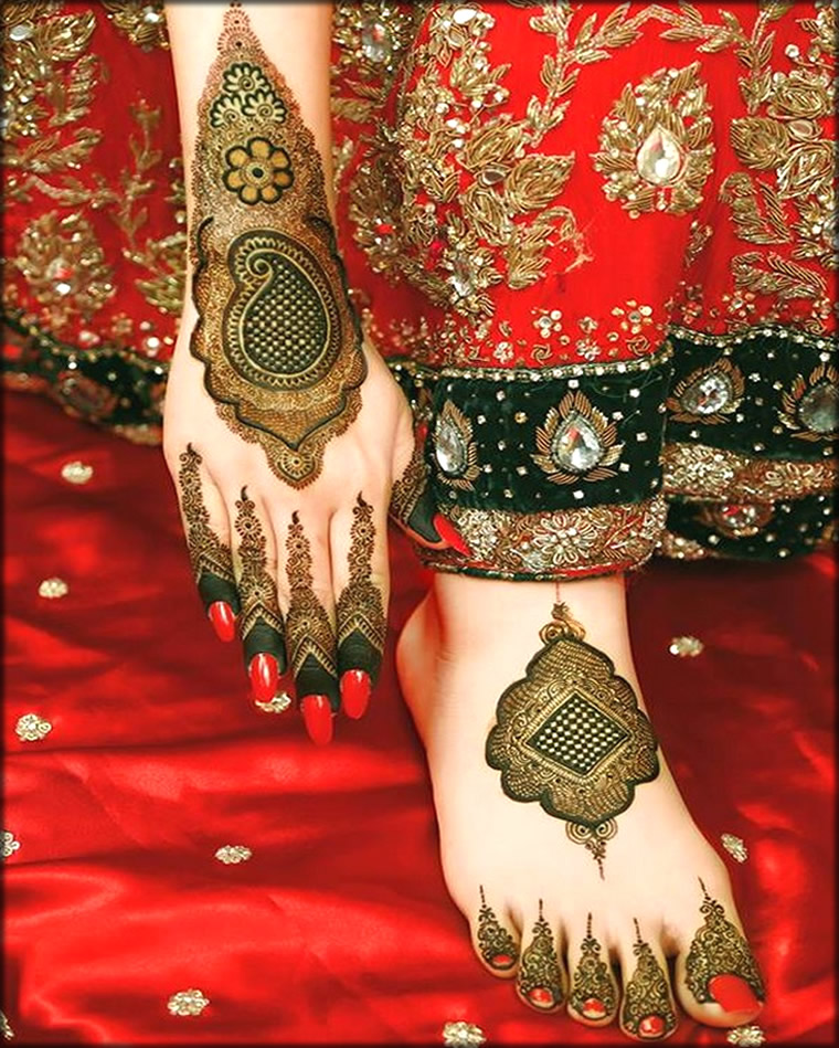Pakistani Latest Bridal Mehndi Design