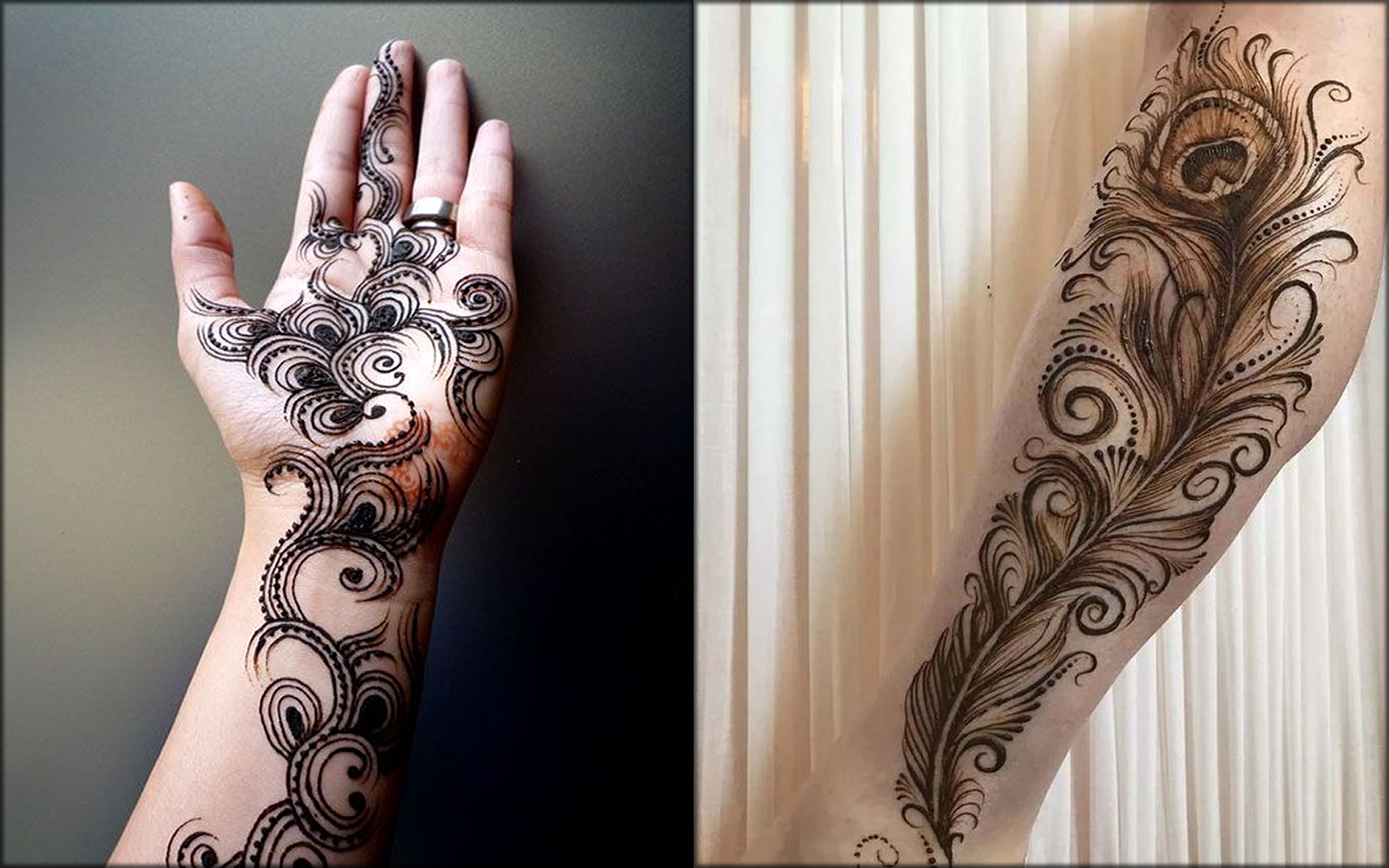 Peacock Feather Indian Mehndi Designs
