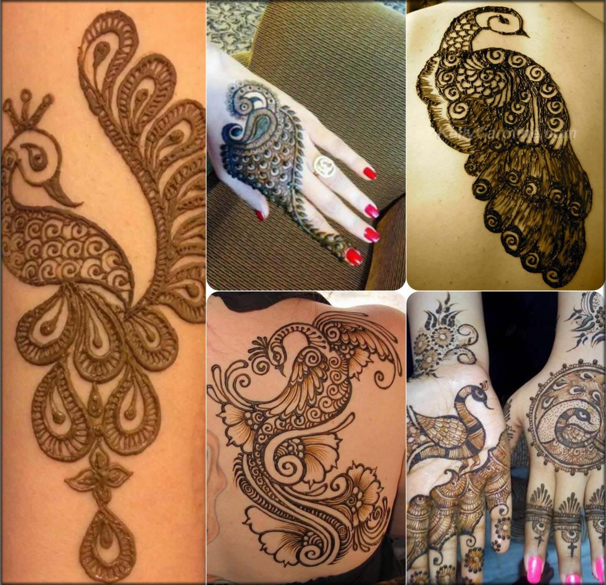 Peacock Mehndi Designs For Girls