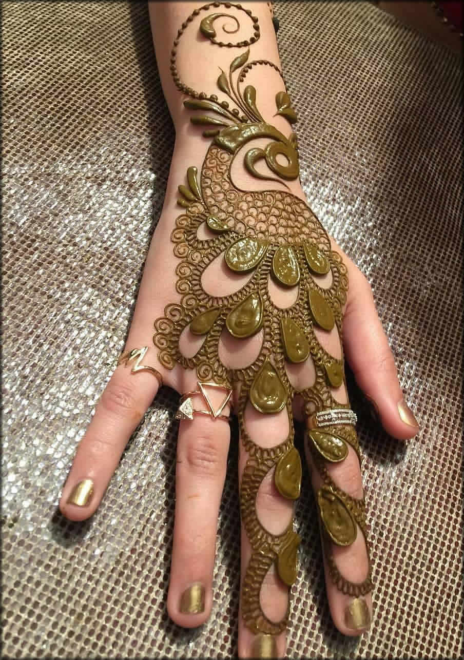 Peacock Rakhi Mehandi Design