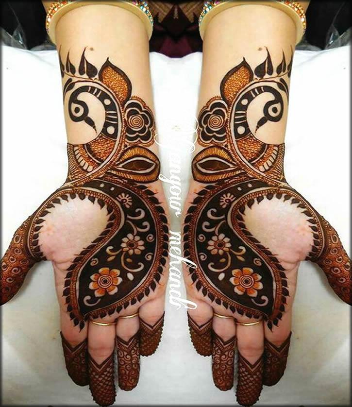 Peacock Style Henna Art