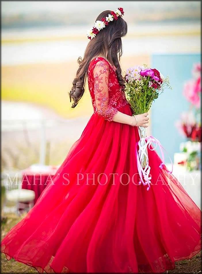 Red Bridal Shower Dress