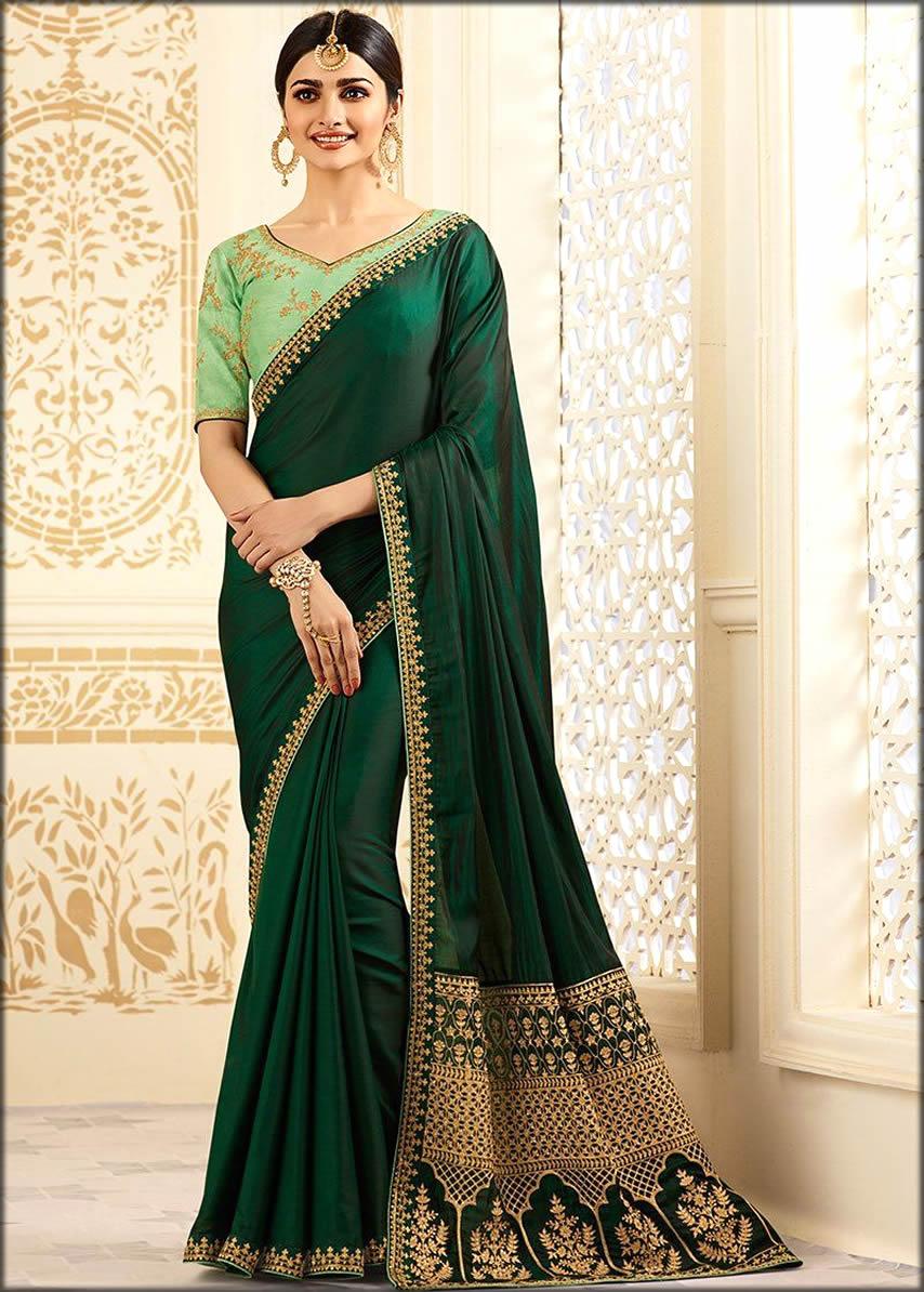 Silk Blouse Saree For Women