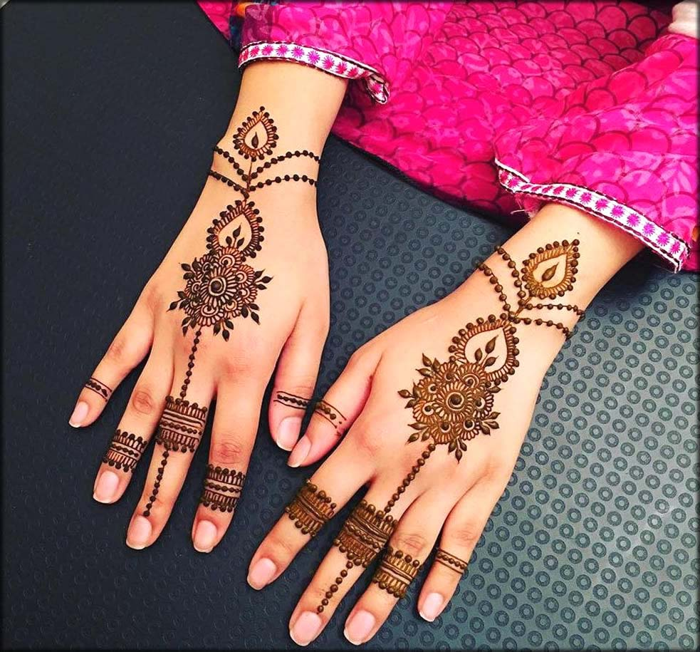 Simple And Classical Eid Mehndi