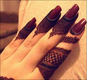 Turkish Finger Mehndi Designs