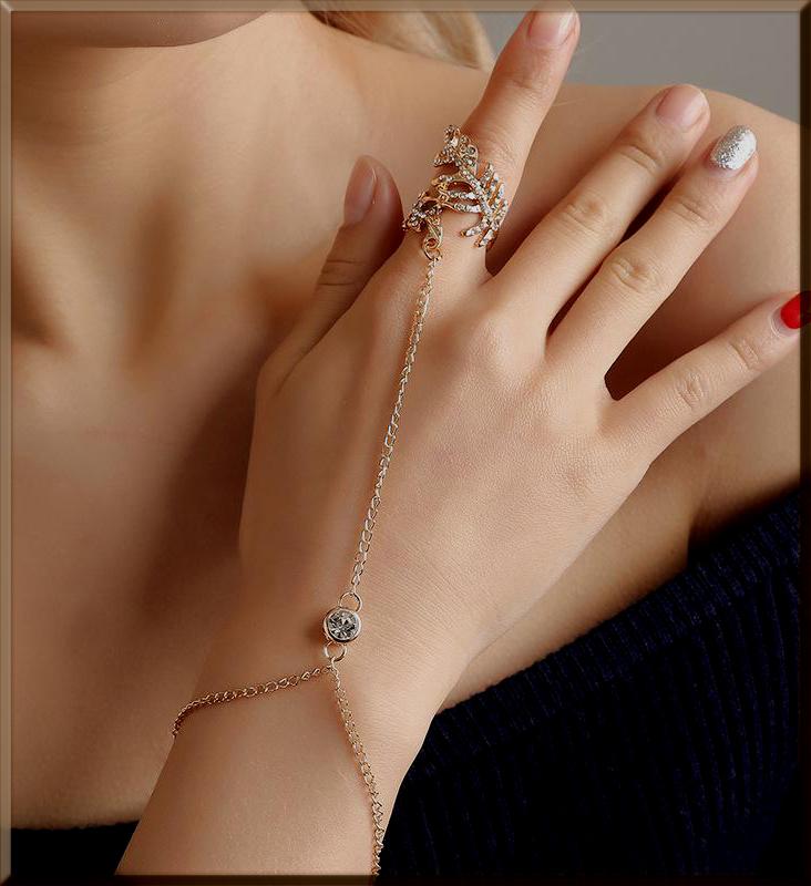 alluring bracelet with rings for girls