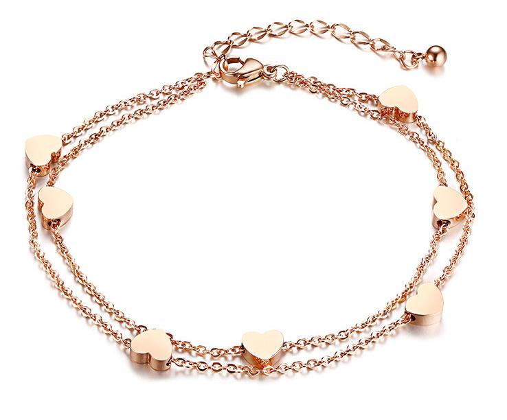 alluring hearted bracelet for girls