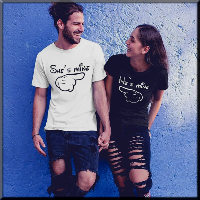 aluuring shirts for couples for Valentine's Day