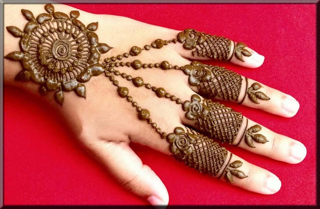 fair arabic tikki mehndi designs