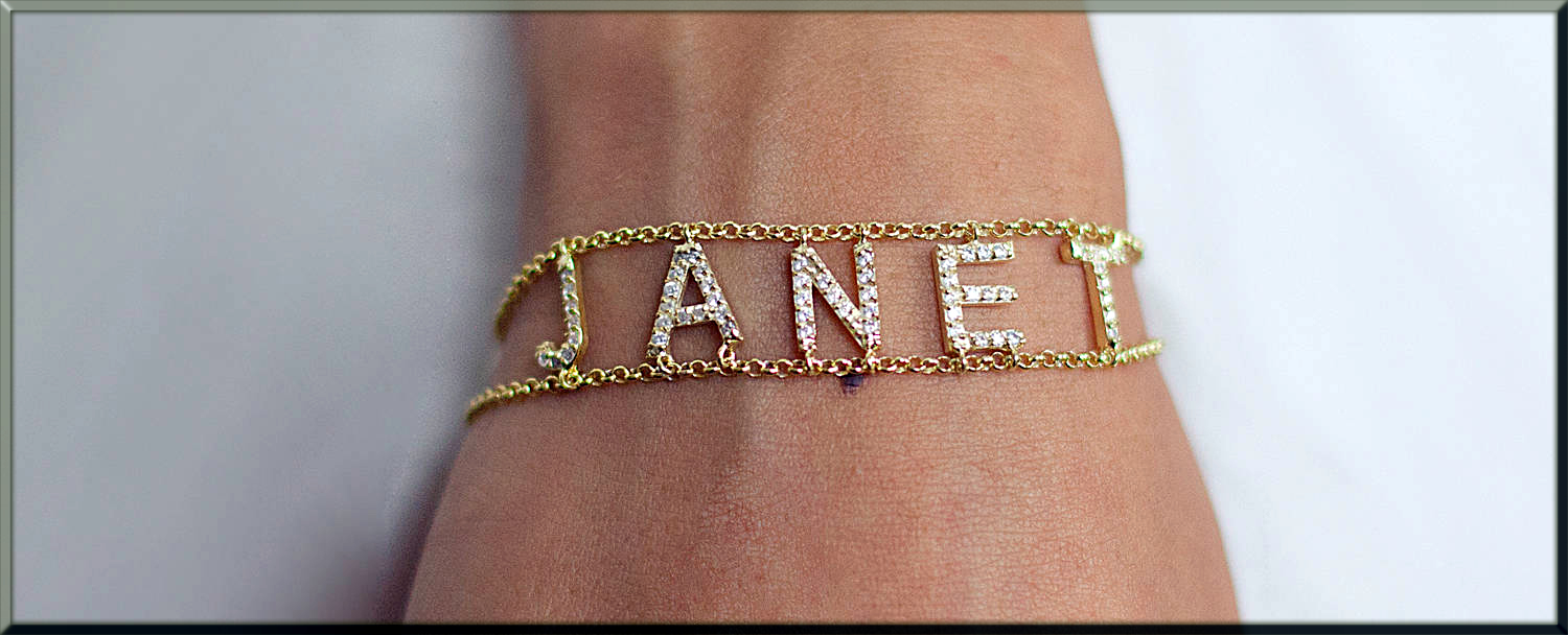 beautiful bracelet with name