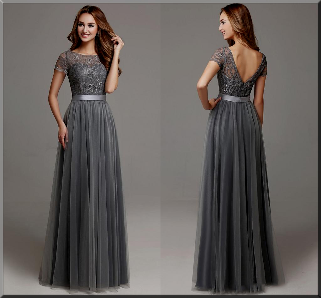 beautiful grey Valentines dress