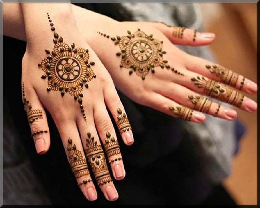 beautiful indian henna patterns for bride