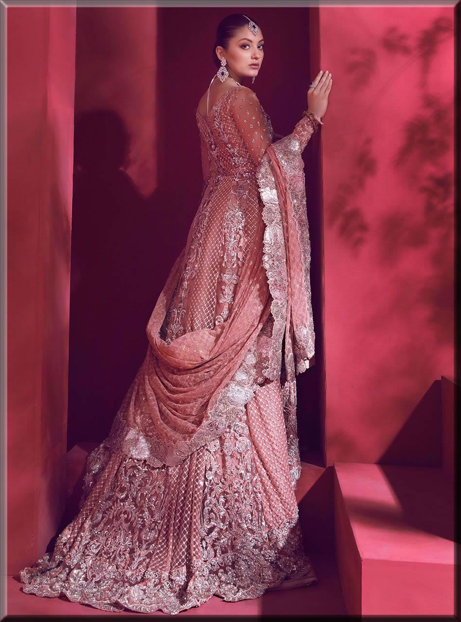 floral pink maxi for a walima bride