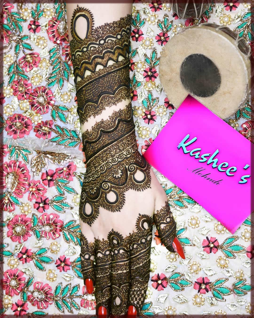 lovely kashees mehndi designs for bride