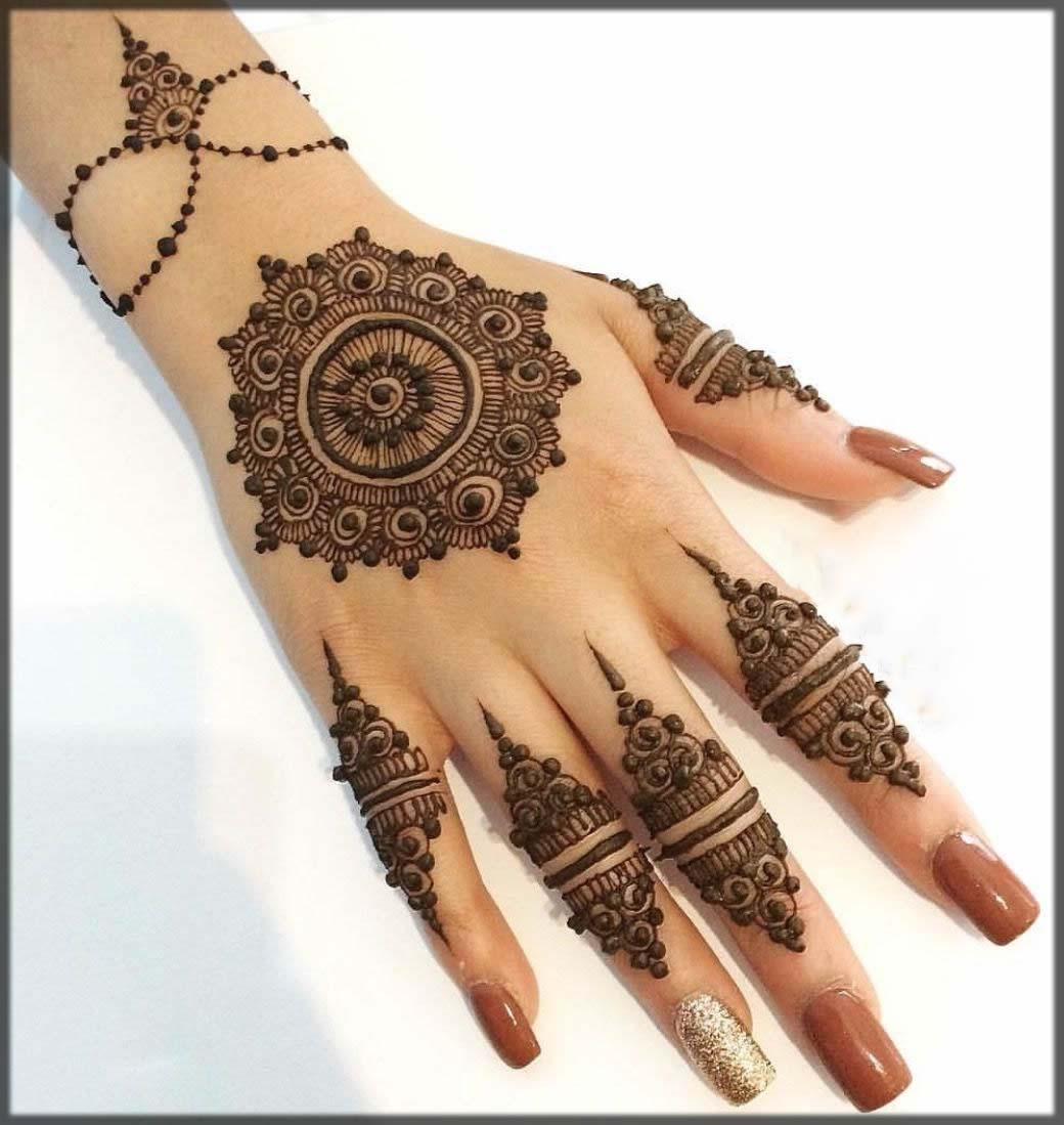 classy and best turkish tikki mehndi designs