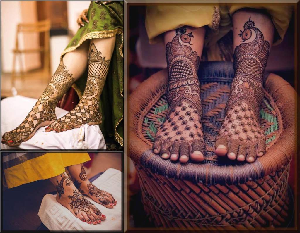 latest henna patterns for feet 2020 collection