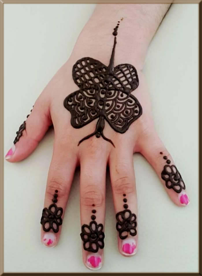 butterfly mehndi designs for kids