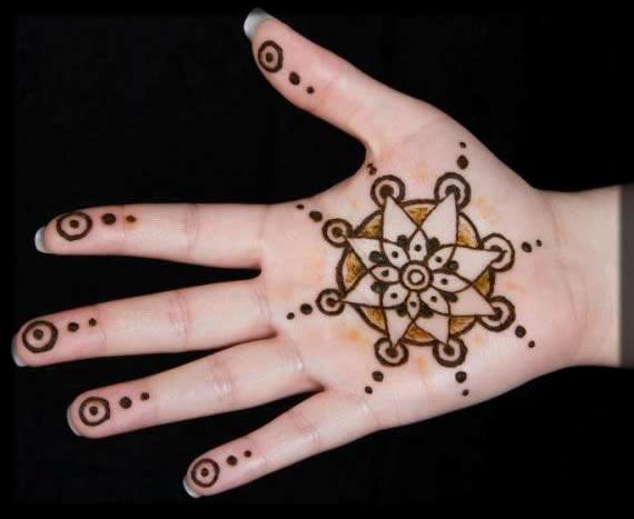 beautiful stars mehndi patterns for kids