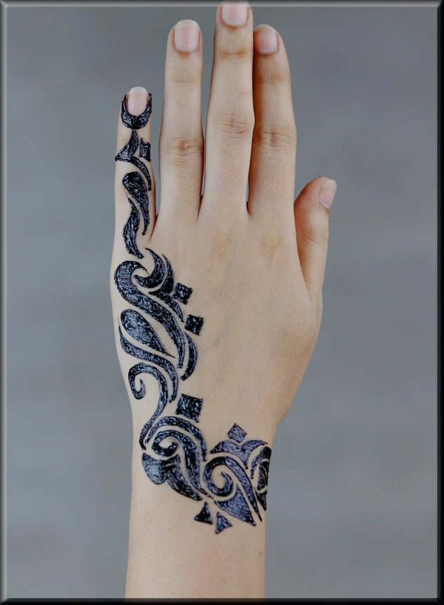 easy arabic henna for teenager