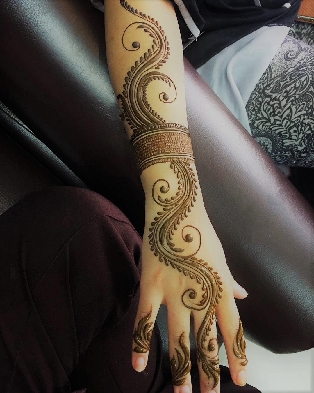 easy full hand mehndi design