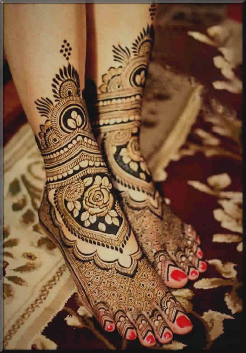excellent feet mehndi designs for bride