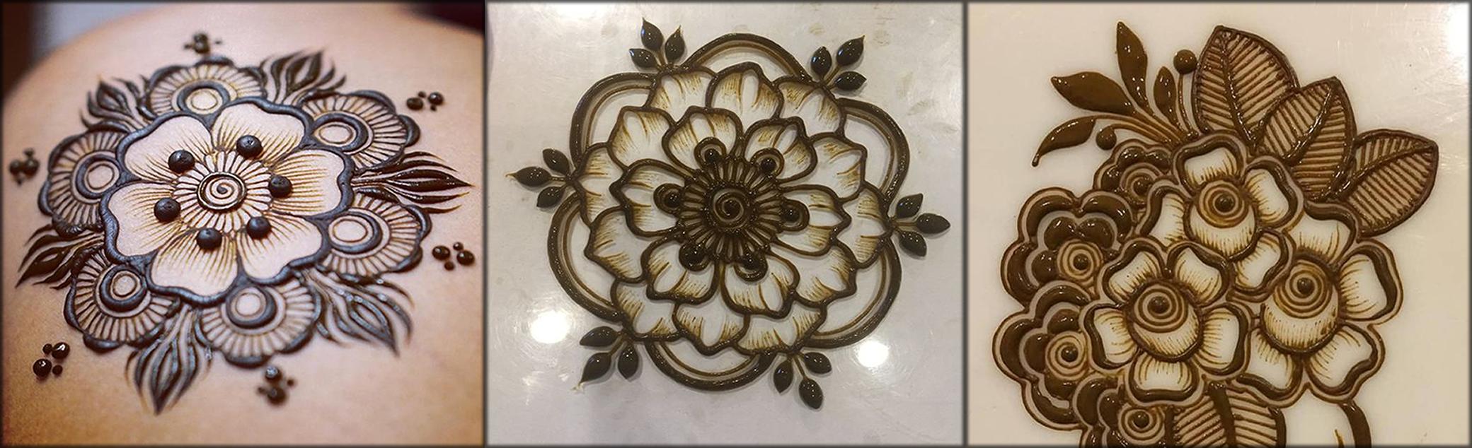 flower pattern Indian Mehndi Designs