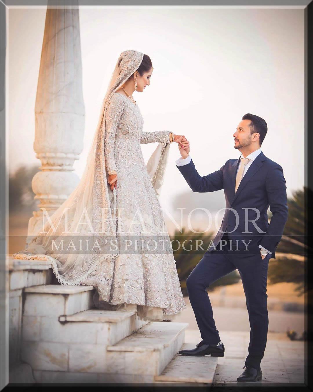 unique grey colour Bridal Walima dresses