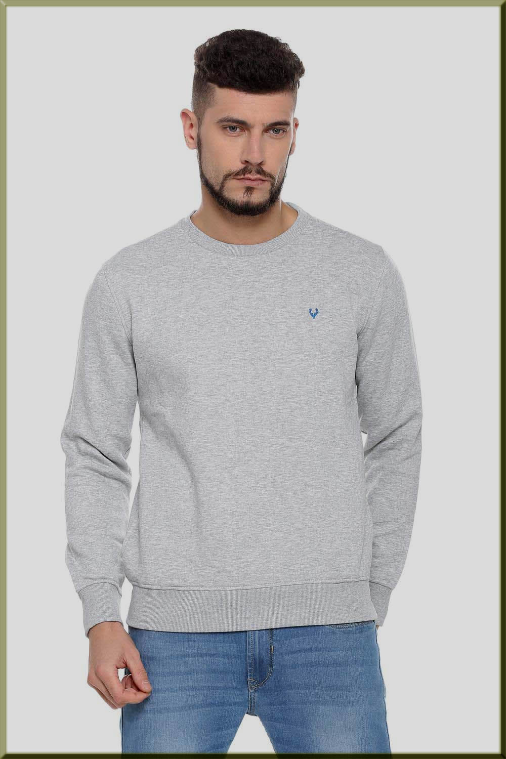 grey sweatshirts for men