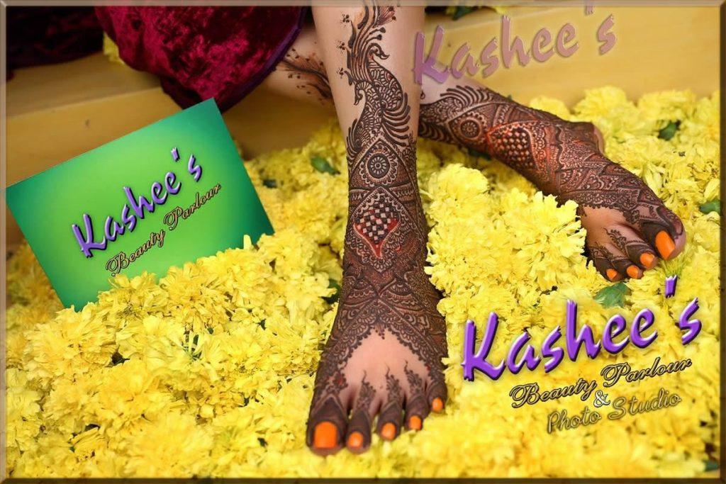 heavy bridal mehndi by kashee's