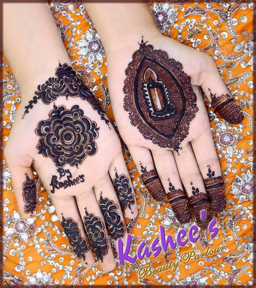 latest and unique kashees mehndi designs