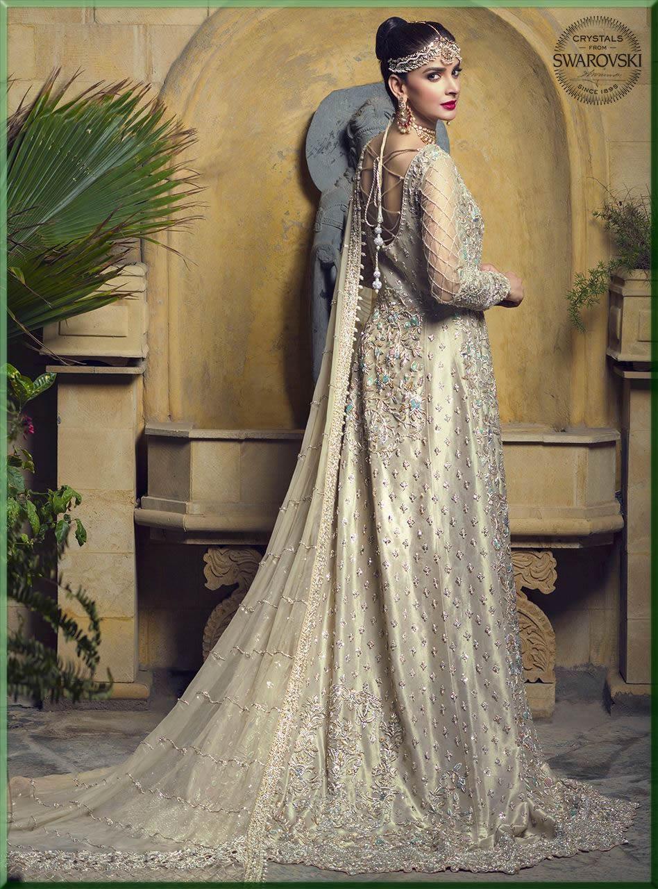 saba qamar in bridal walima dresses