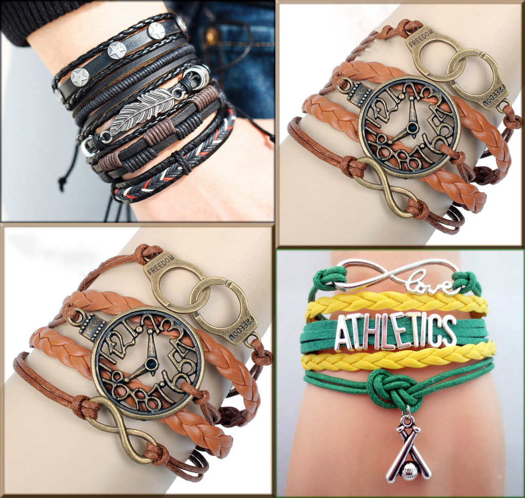 latest leather bracelet for girls collections