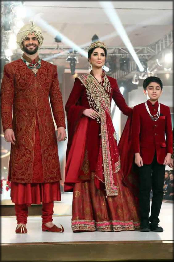 matching Anarkali wedding dresses