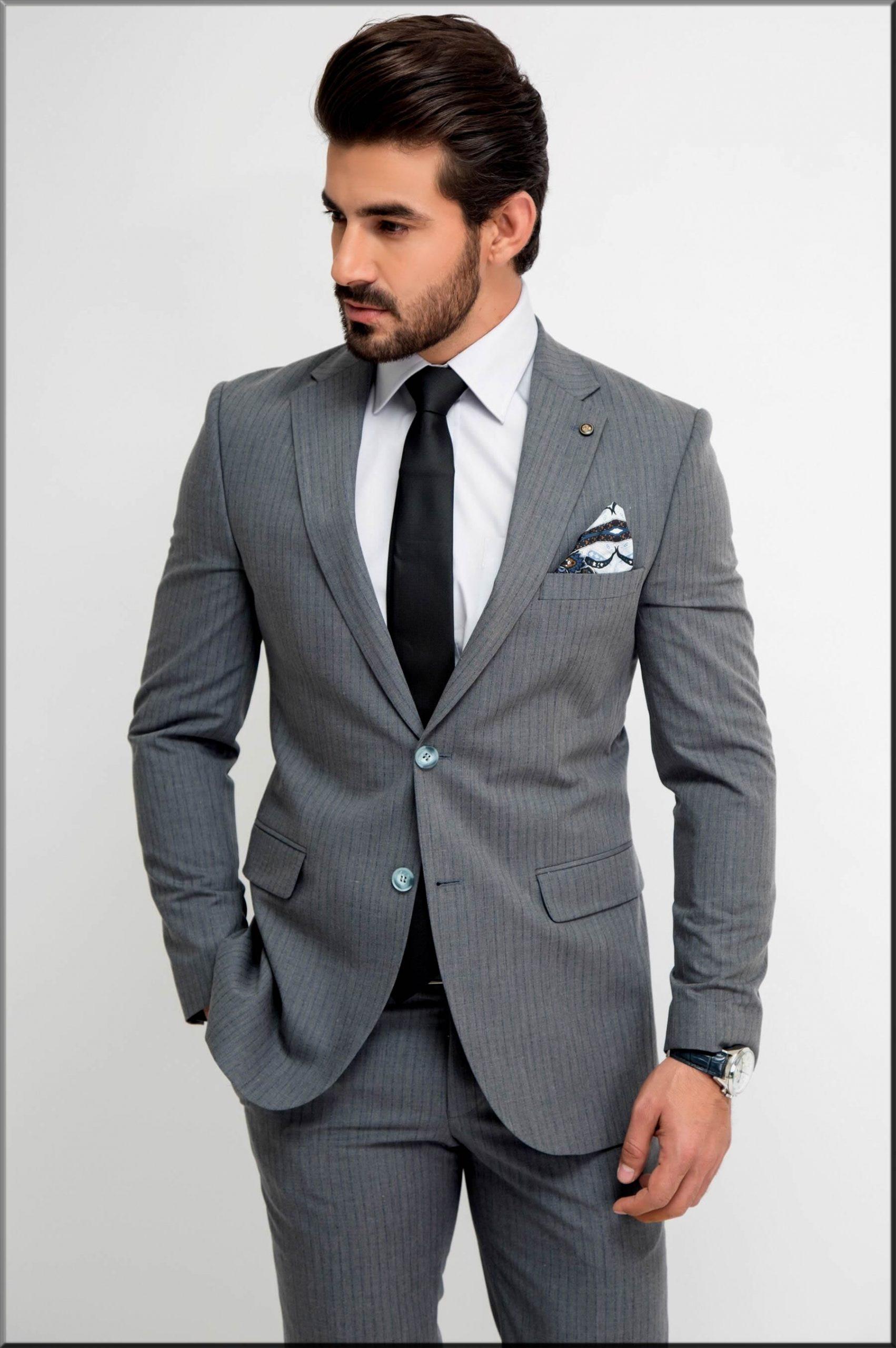 men in ravishing grey colour suit